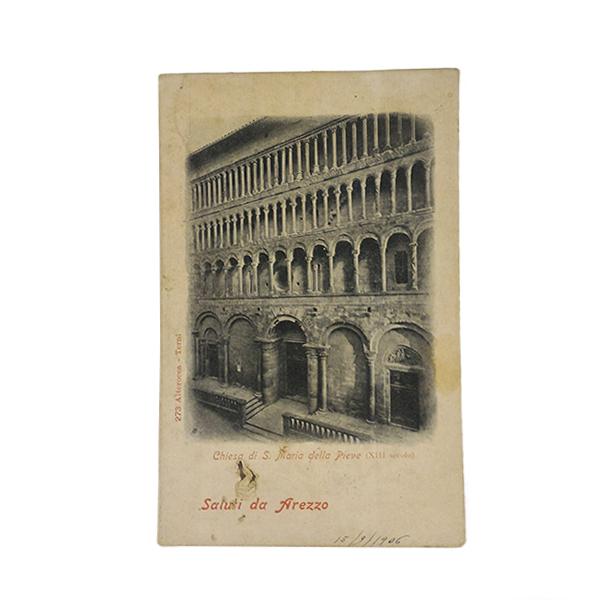 Cartolina raffigurante Arezzo 1906