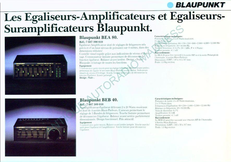 Catalogue Blaupunkt 1984 Bea80 Beb40 Beq F R Beq S Beq Ms