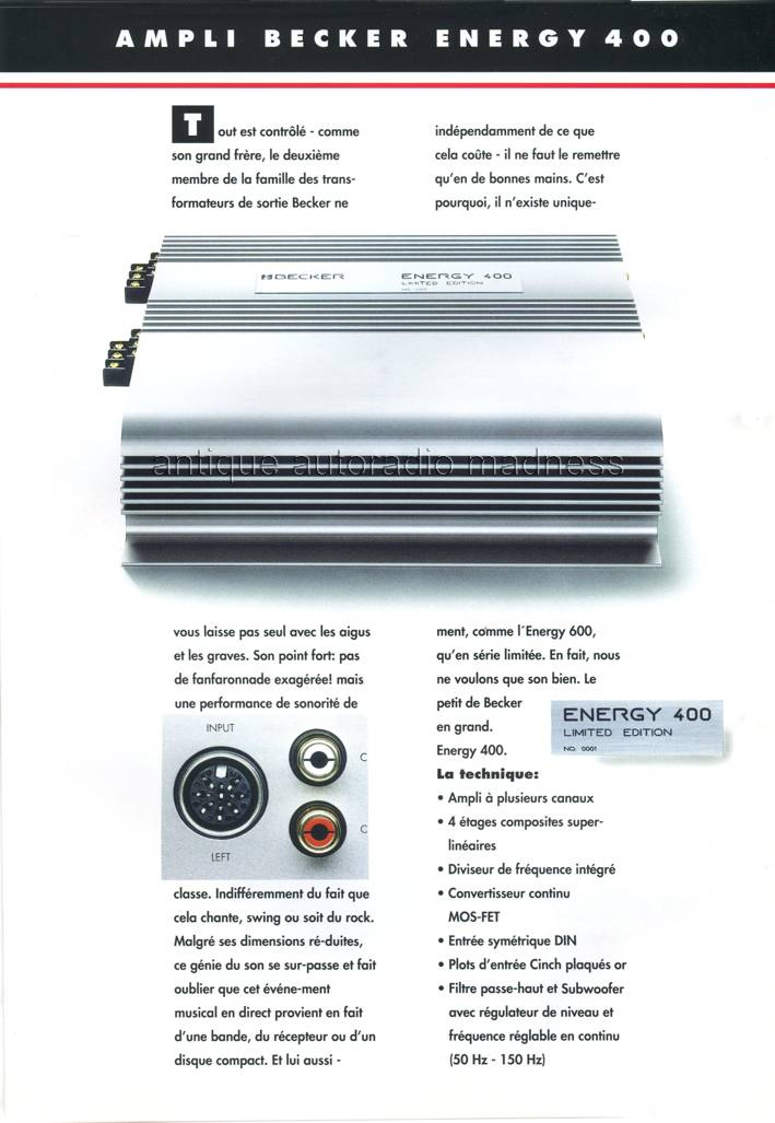 Becker Vintage Catalogue Autoradios 1993 3