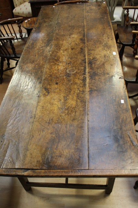 18th Century oak and elm long table