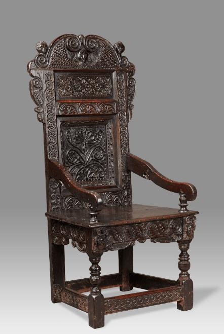 Antique Yorkshire Angel armchair