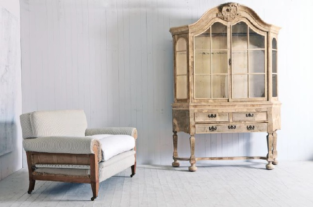 An antique Dutch cabinet at Bath Decorative Antiques Fair
