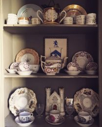Antique porcelain on display