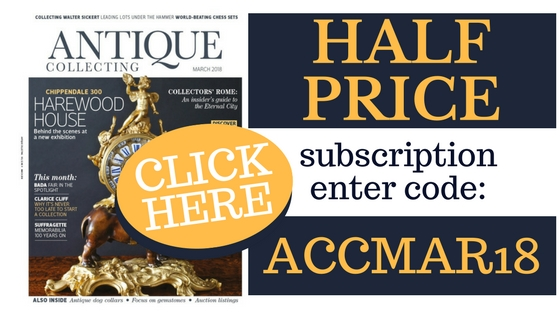 Get half-price subscription to Antique Collecting magazine