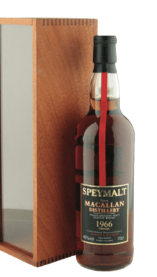 Macallam speymalt bottle and box