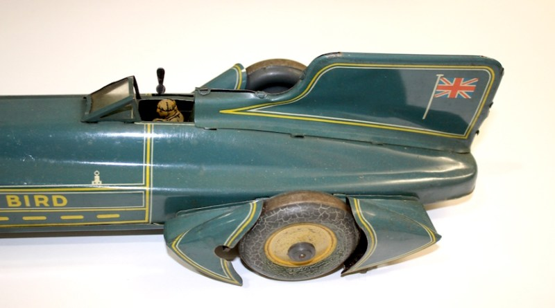 Malcolm Campbell Bluebird tin toy car