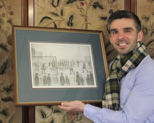 The signed Lowry print of The Football Match