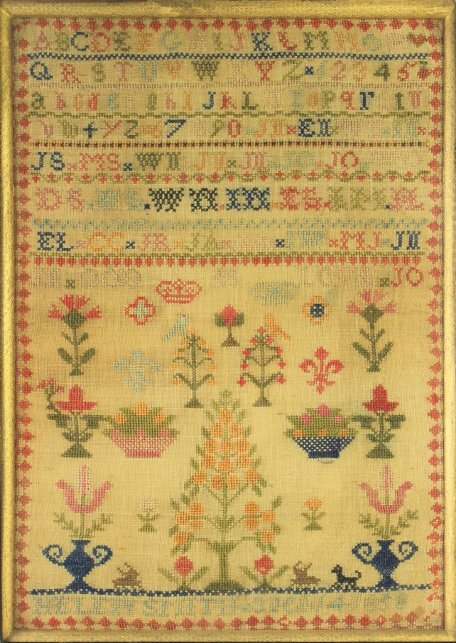 An antique sampler