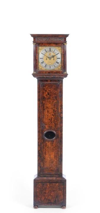 An antique longcase clock