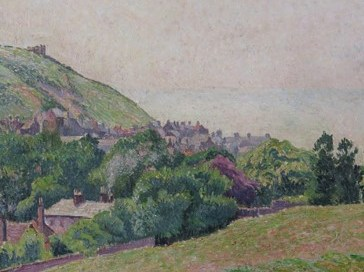 Lucien Pissarro landscape of Hastings