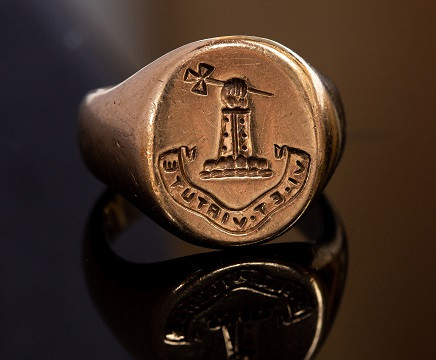 Military hero George Stewart White's antique gold ring