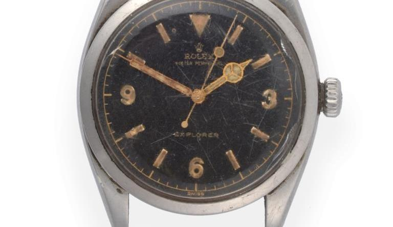 Vintage Rolex Explorer wristwatch sold
