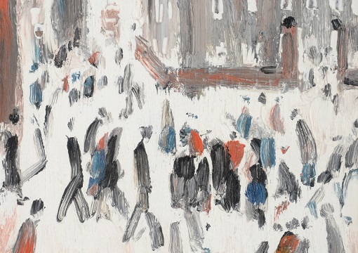 Street Scene, Factory Gates by LS Lowry2
