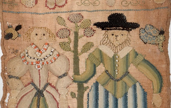 Example of antique needlework