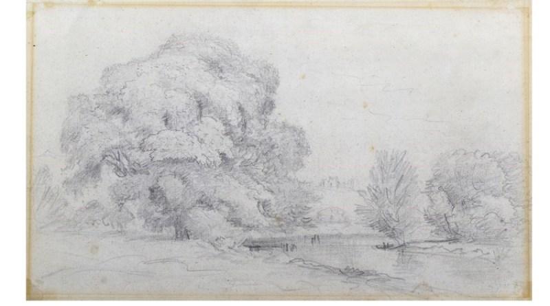 John Constable sketch believed to be of Framlingham castle