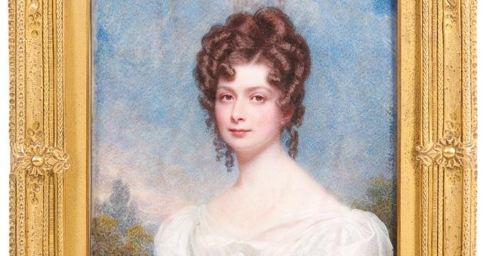 a miniature portrait of a lady