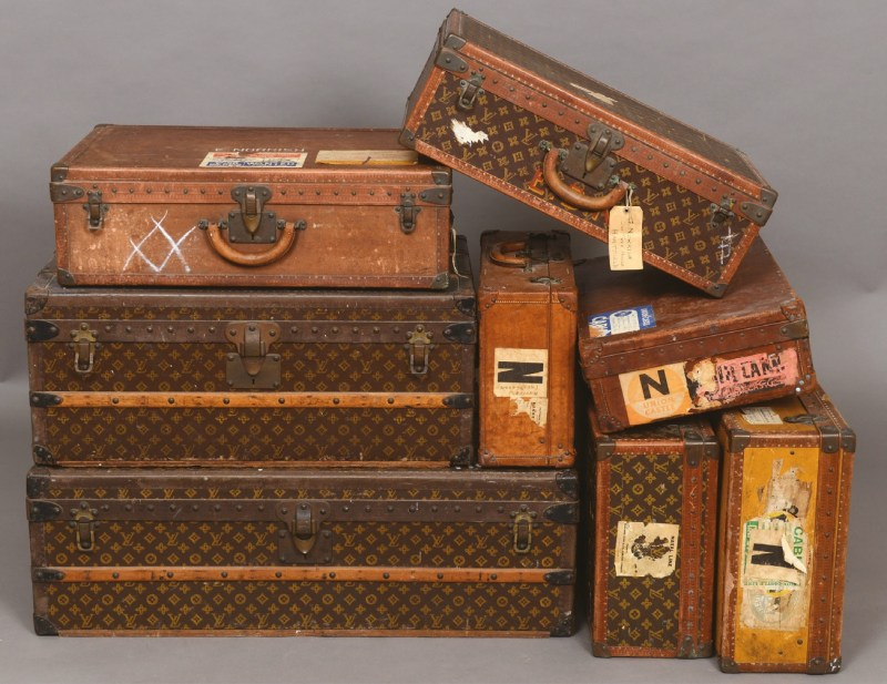 Collection of Louis Vuitton luggage