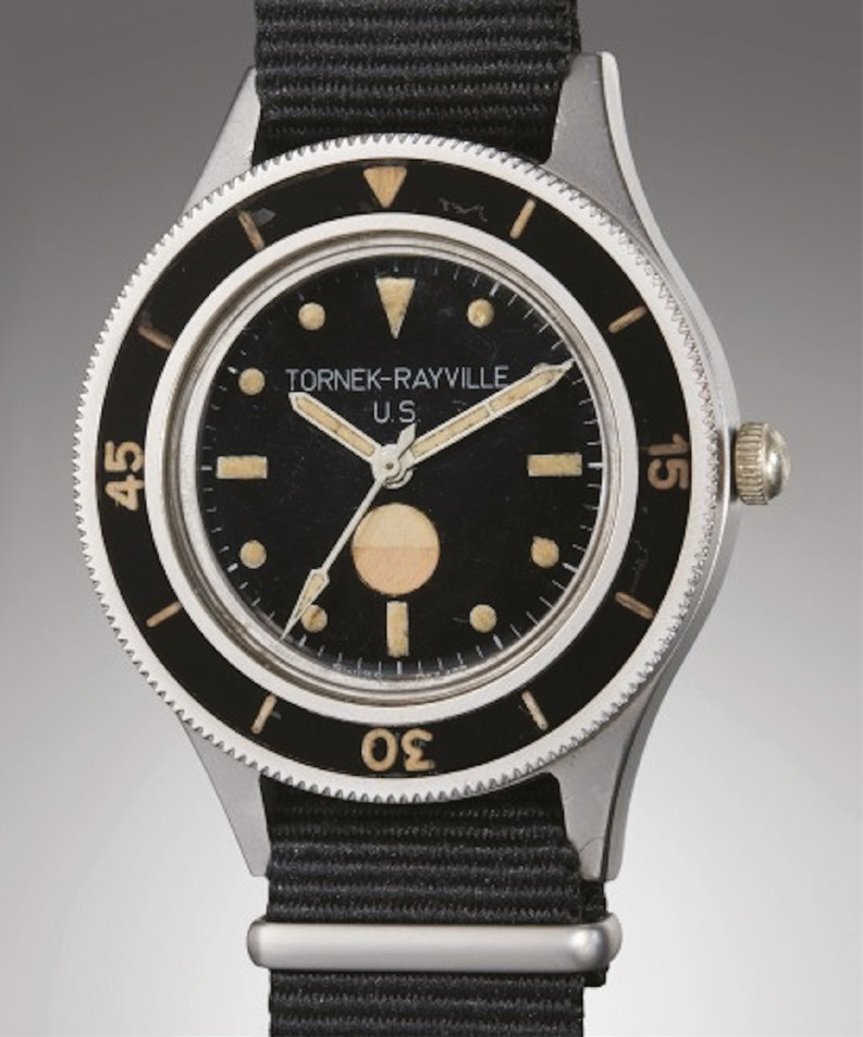 A Tornek-Rayville TR-900 military watch