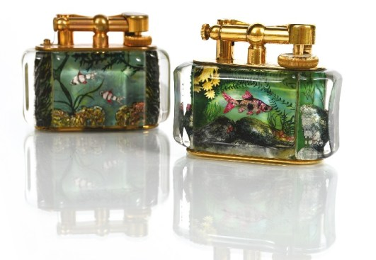 A pair of Dunhill Aquarium lighters
