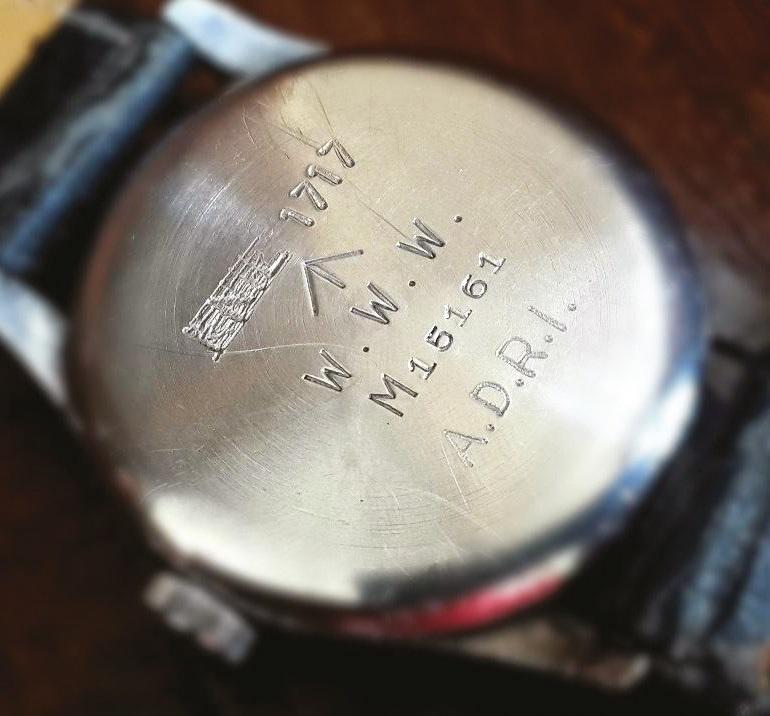 A reissued IWC WWW military watch