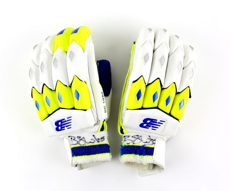 A pair of gloves worn by cricket player Ben Stokes