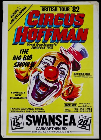 Circus Hoffman posters x 4, 1980's