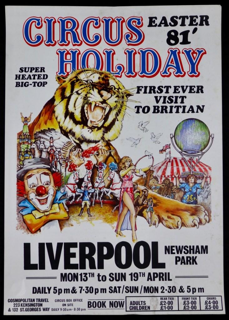 A 1980s circus poster