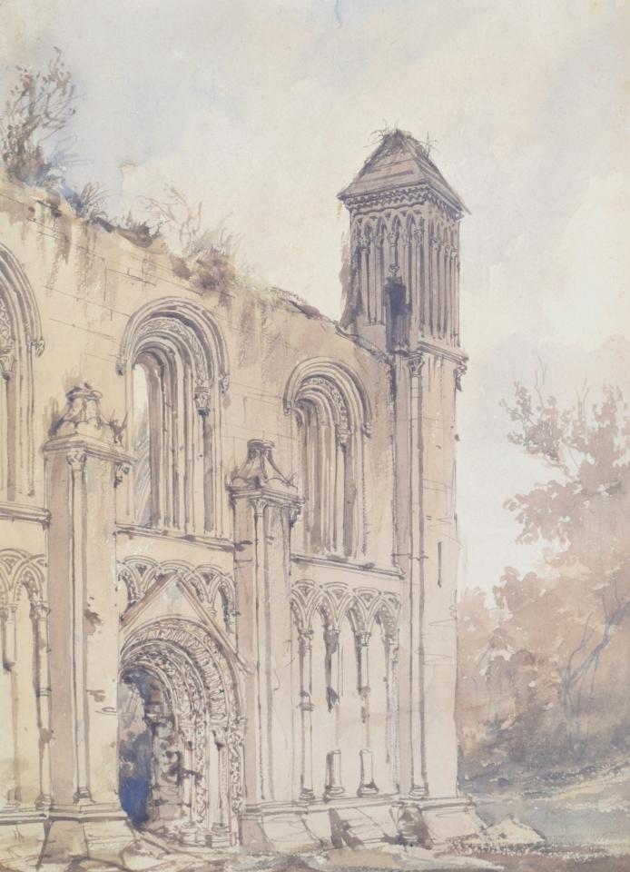 Frederick Nash Glastonbury Abbey