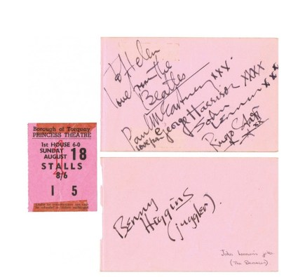 A set of Beatles' signatures