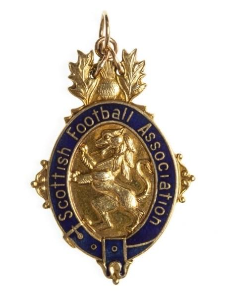 Rangers footballer Derek Johnstone's medal
