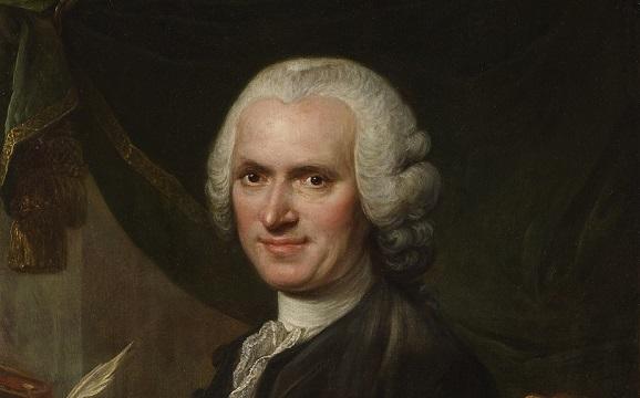 The portrait of Jean-Jacques Rousseau