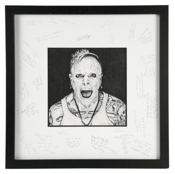 Portrait of The Prodigy singer Keith Flint