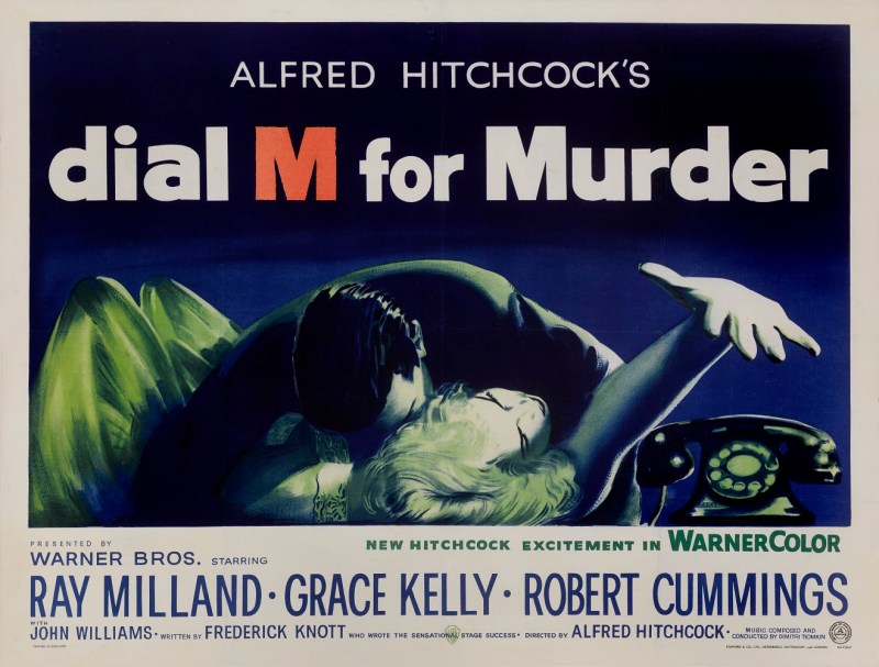 Dial M for Murder vintage film poster
