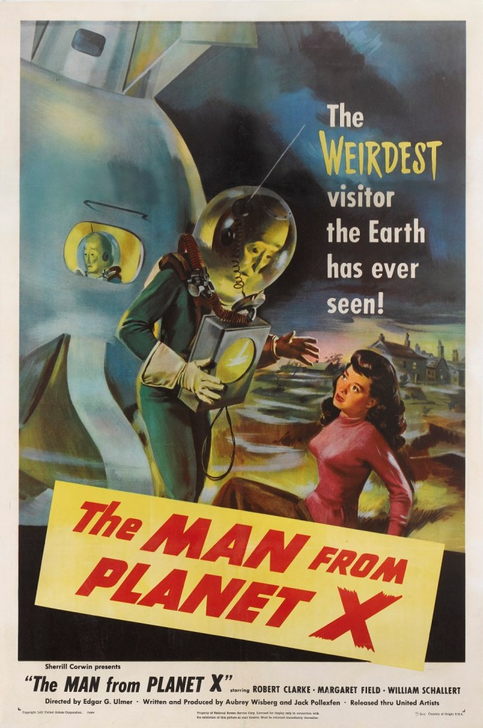 The Man from Planet X vintage film poster