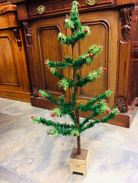 The vintage Christmas tree from Woolworths