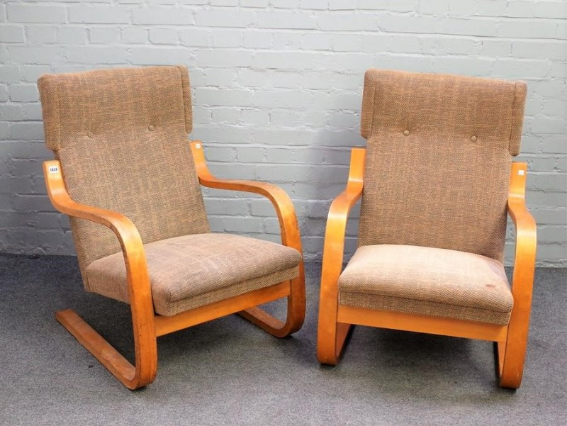 A pair of Alvar Allto chairs
