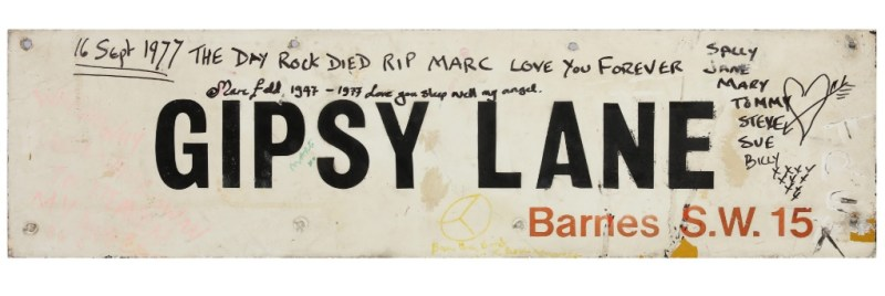 Marc Bolan death street sign