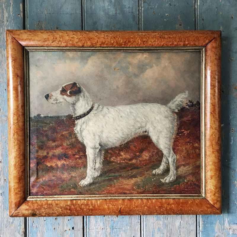 A portrait of a terrier dog from antique dealer Marc Kitchen-Smith
