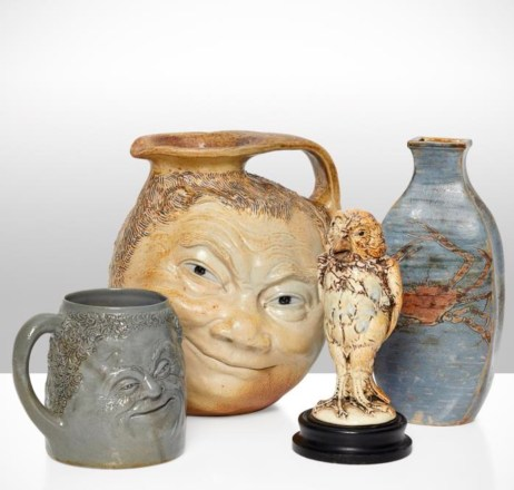 The collection of Martinware in the sale