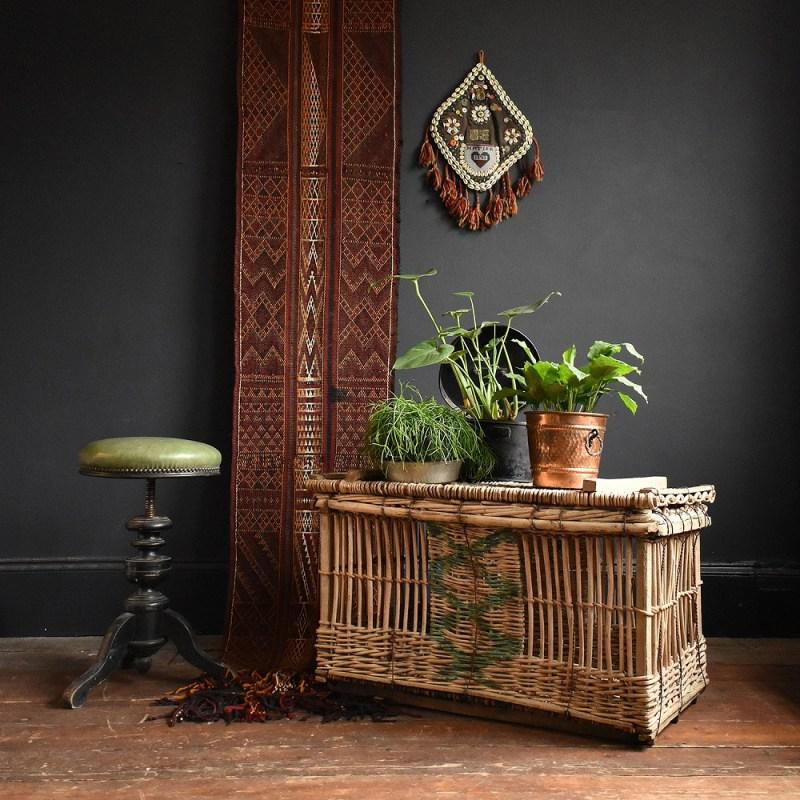 An antique wicker chest in Rag & Bone Bristol