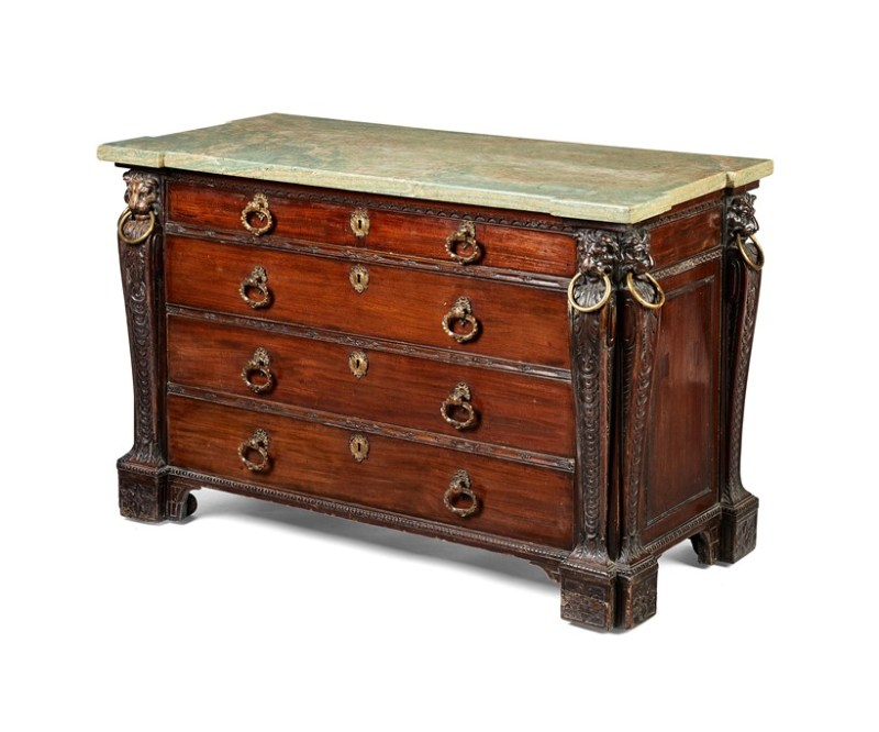 An antique chest from the Sir William Whitfield Collection