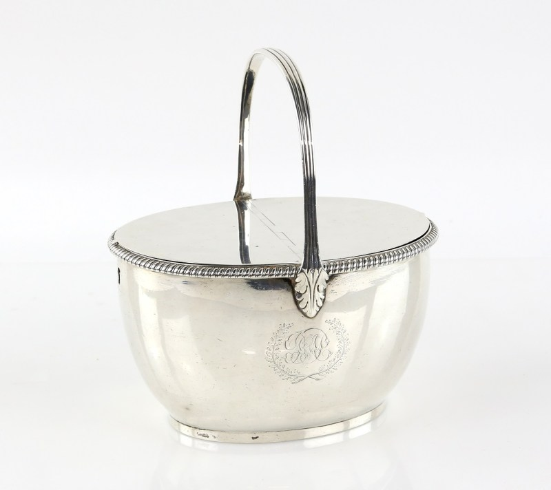 A silver caddy by silversmith Paul Storr