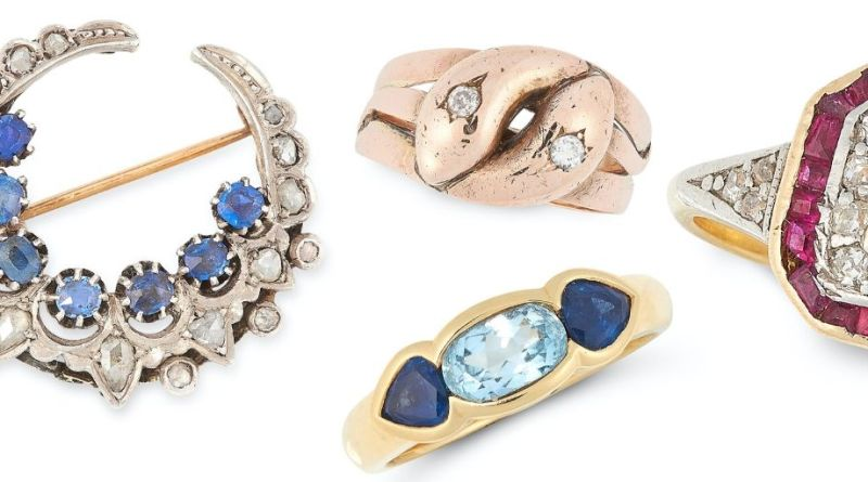 Charity auction of jewellery at