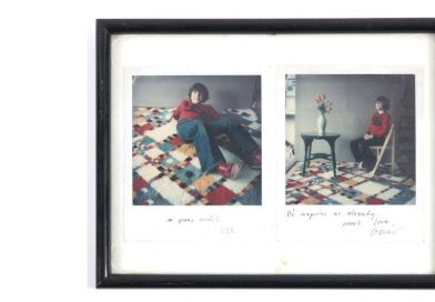 A pair of David Hockney polaroids