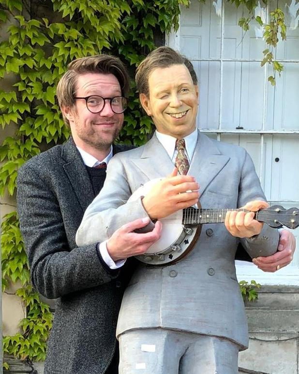 Jim Spencer with George Formby model