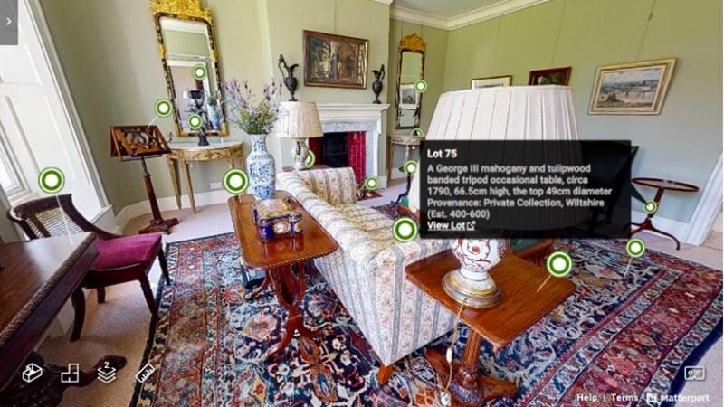 Auction house Dreweatts 360 Virtual Auction Tours