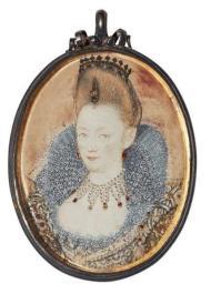 portrait miniature of a lady