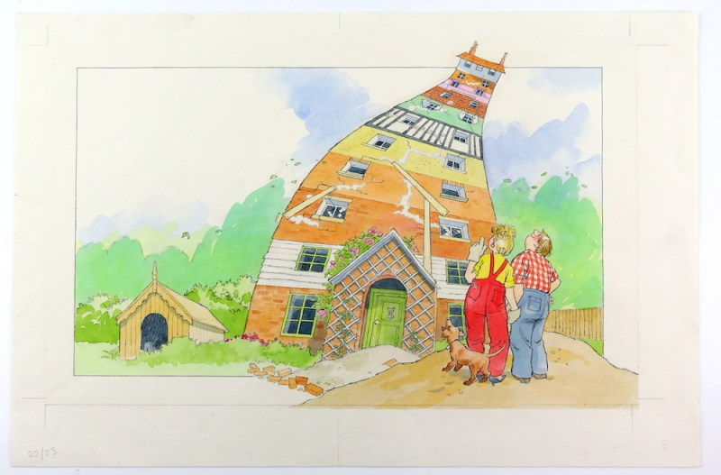 The Munro's New House, one of 180 watercolours by Barbara Firth