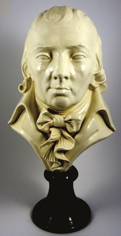 A bone chinacommemorative bustof Josiah Spode