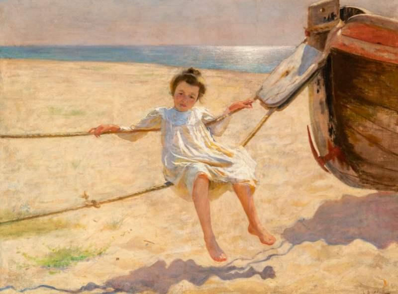 Laureano Barrau (Barcelona 1863 - Santa Eulària des Rius 1957) The Swing, c. 1901
